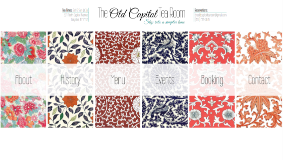 Old Capitol Tea Room website